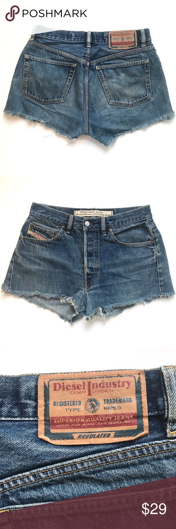 "Diesel Distressed High Waisted Jean Cut Off Shorts In great pre-owned condition! One small mark on the front (see photos) -it adds to the vintage character! These are perfect for summer paired with a crop top or a longer tee tucked in!  •Women's size 8/10 (The tag says 32 but that's not USA sizing) •15"" across waist, 11"" rise, 12"" from waistband to ""hem"" •100% Cotton •Retail $83 👋🏼 Make me an offer!  🎒 Bundle for 20% off your whole order!  🤷🏼‍♀️ No trades nor lowball offers! 🥂 Thank…"