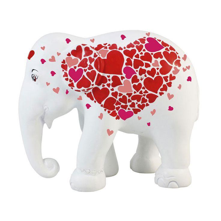 Elephant Parade | 15 cm Hearts in Heart | Elephant Conservation | Charity www.homearama.co.uk