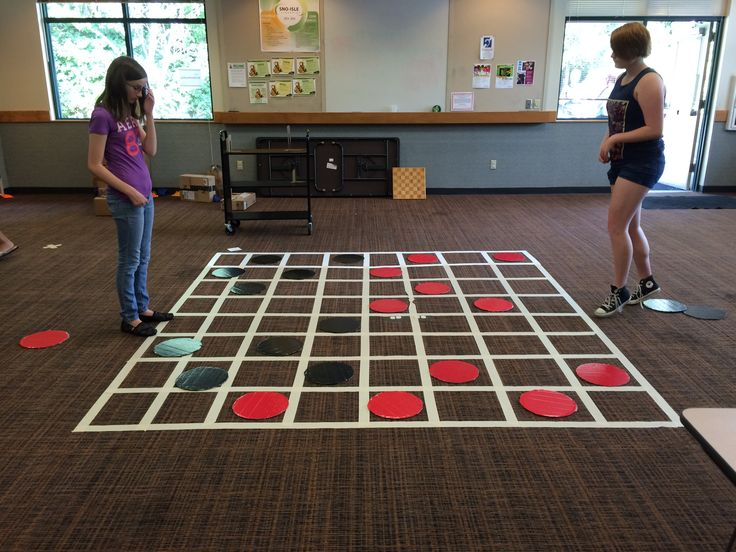 Life-size checkers game                                                                                                                                                                                 More