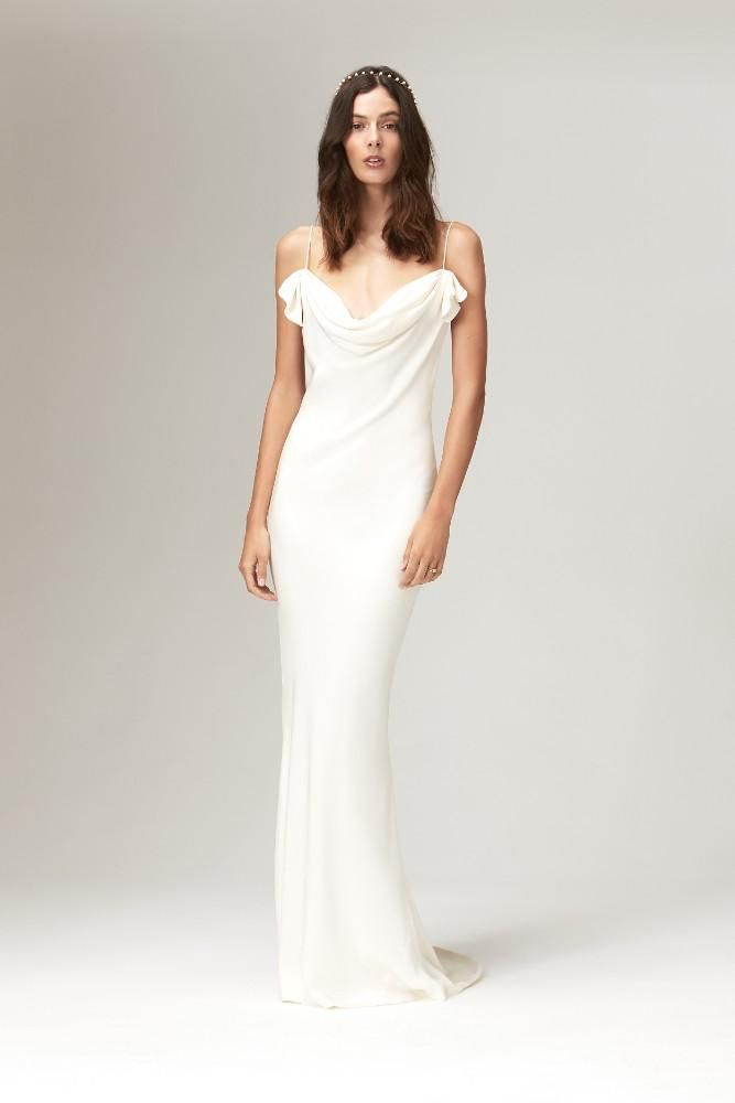 Savannah Miller Fall 2019 Collection Chicagostyle Weddings Necklines For Dresses Wedding Dress Necklines Cowl Neck Wedding Dress