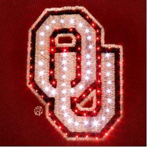 Free S/H NCAA Oklahoma Sooners Fiber Optic Adjustable Hat