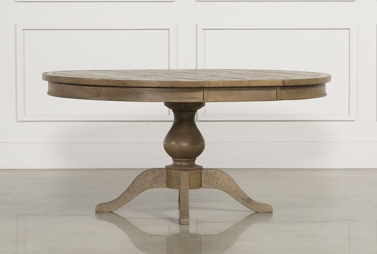 Becomes oval with a leaf - 60x48, need to make sure not too big - Beckett Round Dining Table