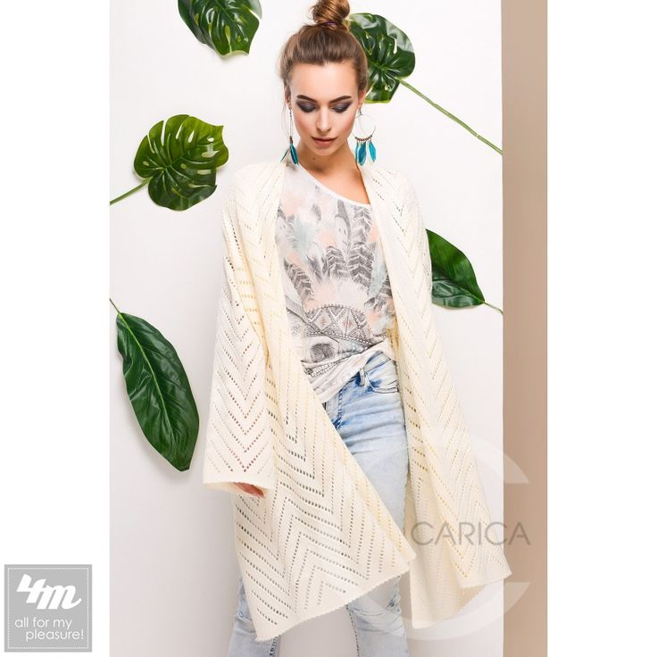 Кардиган Carica «25275» (Молоко) http://lnk.al/48mv  Стильный вязаный кардиган прекрасно впишется в ваш весенний гардероб. Изделие свободного кроя с длинным рукавом. Ткань очень мягкая, приятная к телу с перфорированным узором.  #стиль #стильно #наряды #стильные #стильномодномолодежно #стильныйобраз #стильныештучки #стильное #стильномодно