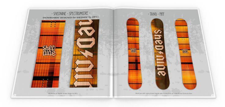 Concept Designs for ShedNine (S9) SHED9 2017 Snowboard production