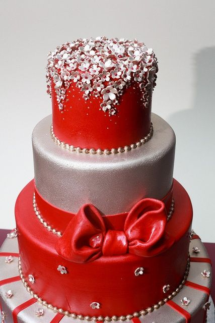 found on weddingmeyoucom lucky red asian wedding cakes silver and red