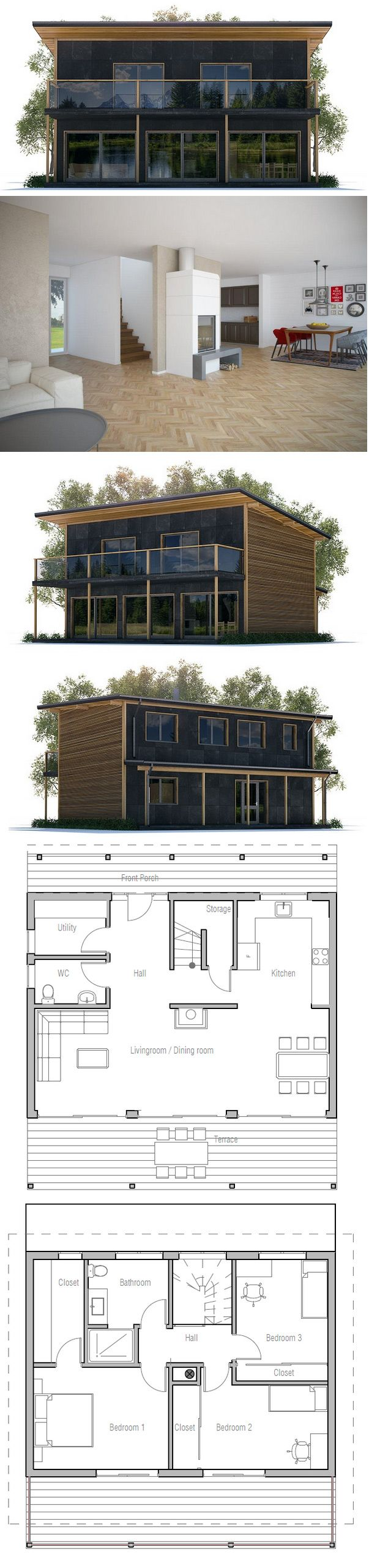 House Plan Two Floors House Plan