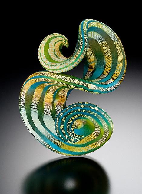 Ruffle Brooch by Elise Winters