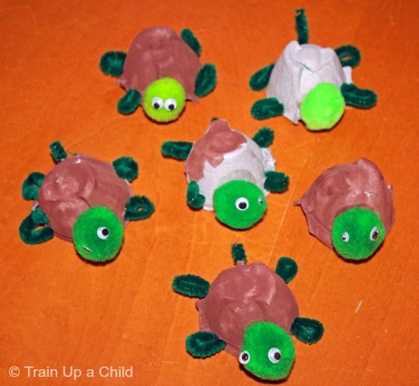Egg Carton Turtle