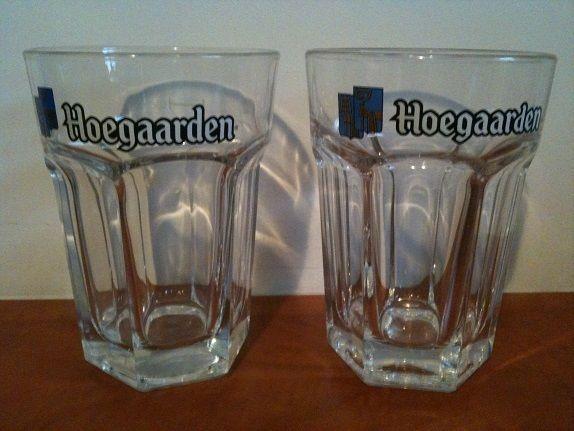 For Sale: 2 Beer glasses: Hoegaarden pint glasses...