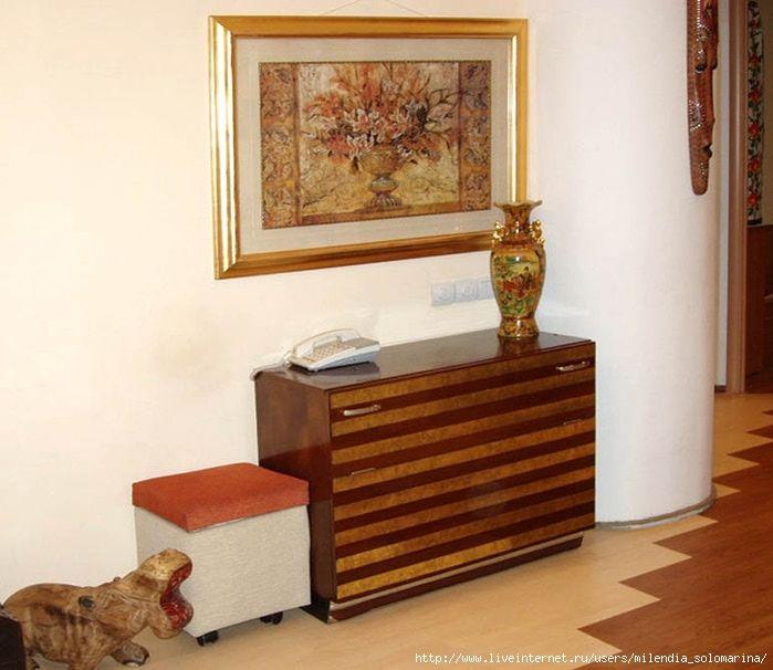 старая полированная мебель