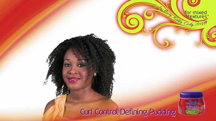 How To - Pudding Tuto coiffures pas à pas: Comment définir de belles boucles ou des ondulations sur cheveux ondulés, bouclés, frisés ou crépus avec le Définisseur de Boucles - Curl Control Defining Pudding de Beautiful Textures.