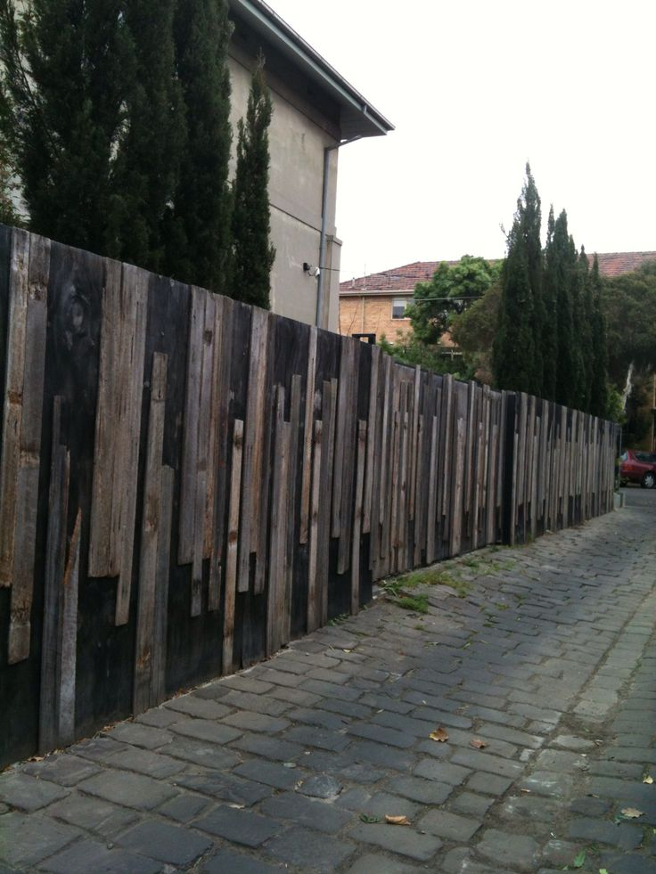 Interesting fence in thebackstreets of St Kilda.