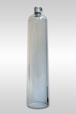 Mister B Cockcylinder Dimensions du cylindre : 5,7 cm de diamètre, 25 cm de longueur. Ne peut s'utiliser qu'avec la pompe à controle de pression Mister B vendu séparément.