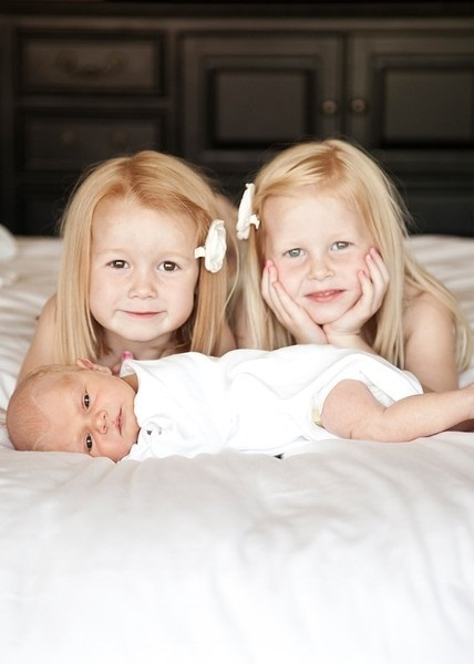 twins and a little bro
