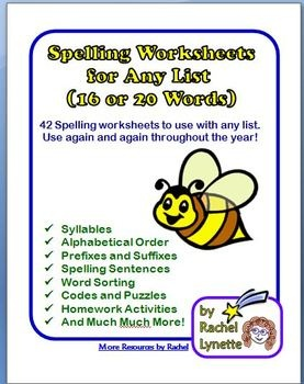 31 best homework images on pinterest homework homework ideas here is everything you need for a differentiated spelling program except the words sciox Image collections