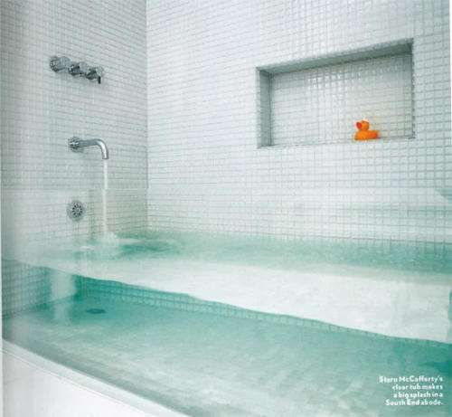 Storm McCafferty's clear tub