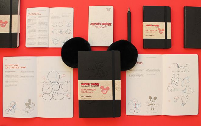 モレスキンから限定版ミッキーマウスのノートブック | Fashionsnap.com
