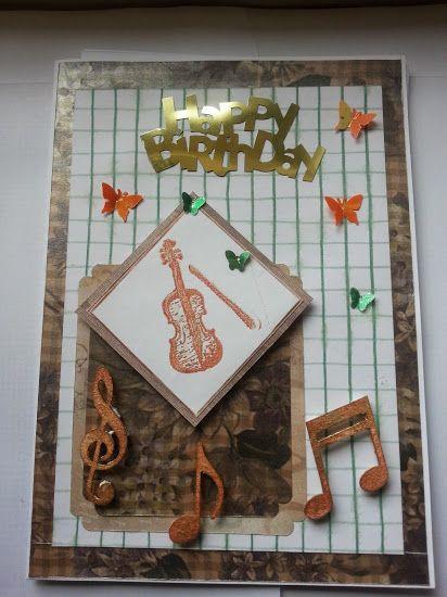 Male musical card.