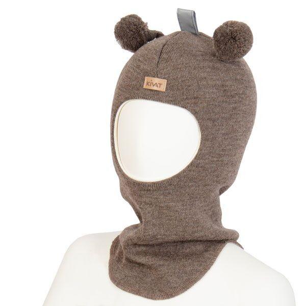 Kivat lue, brun balaclava med refleks og dusker | DressMyKid.no - Barn og baby - Alltid gode tilbud