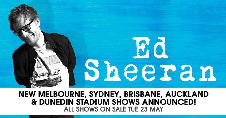 Ed Sheeran announces Additional Tour Dates #EdSheeranTour #EdSheeran #frontiertouring #GalwayGir