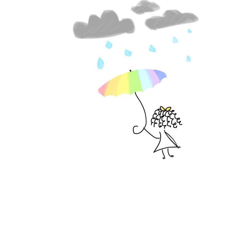Under my own #rainbow #positive #affirmations #goodvibes #brightside #rain #cloudy #sketch #drawing #illustration #iphonenotes #iphonenotesart