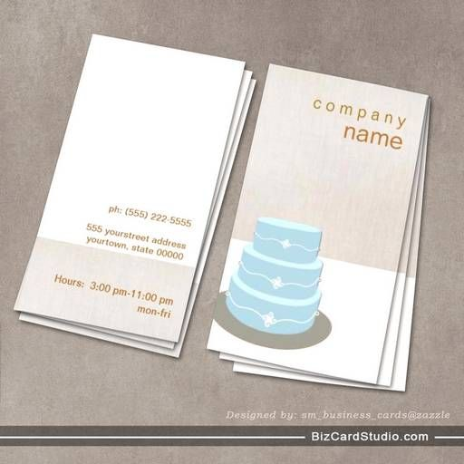 34 best images about bakery business cards on pinterest for Business card cake design