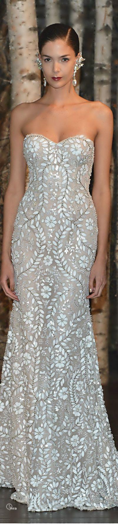 White and Gold Wedding. Gold Bridesmaid Dress. Soft and Romantic. Naeem Khan Bridal ● Spring 2015