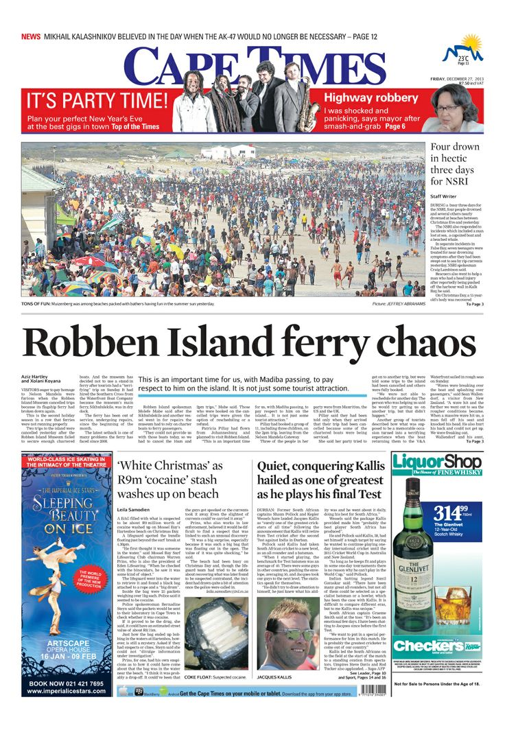 News making headlines Robben Island ferry chaos