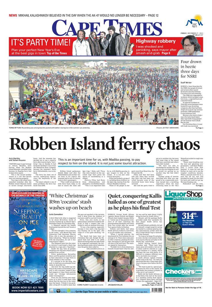 News making headlines Robben Island ferry chaos