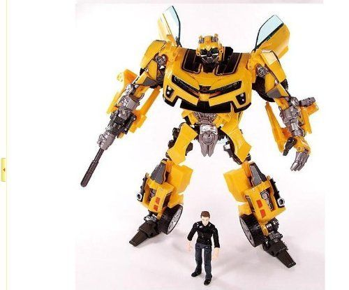 . Bumblebee Figure with Sam . The bumblebee was transformed from Camaro. A cool present for kids and transformers lovers...