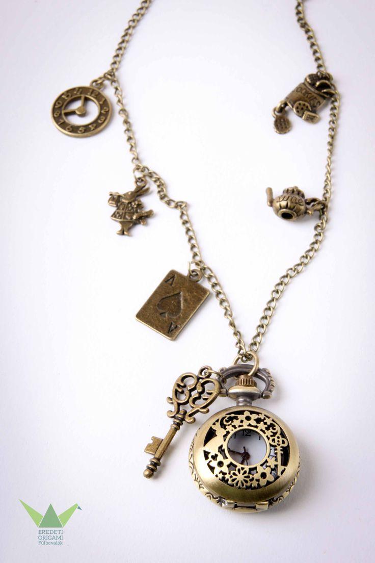 Alice's in Wonderland necklace pocket watch