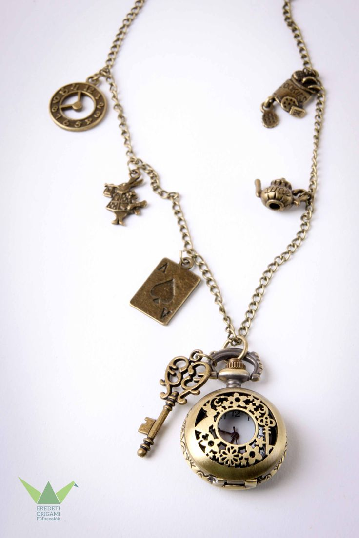 Alice's in Wonderland necklace pocket watch