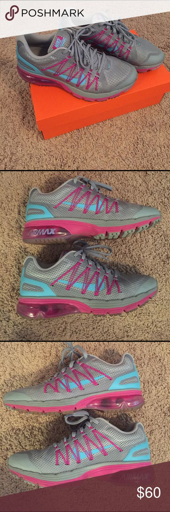 Women's Nike Air Max Excellerate 3 Gray, turquoise, and magenta. Sz 8 1/2. Worn a few times. Comes with Nike box (not original box). Nike Shoes Athletic Shoes