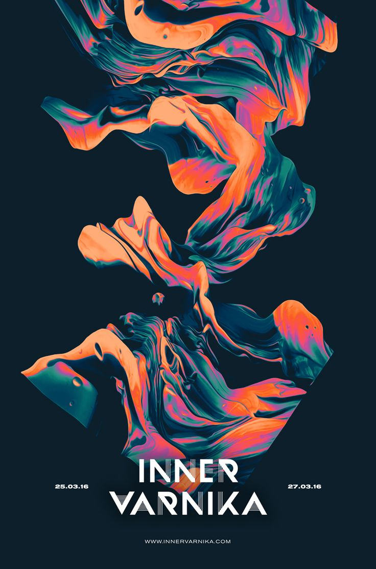 inner varnika poster international electronic music festival berlin branding art direction and project colors image by sam chirnside australian