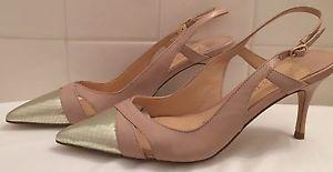 Ivanka Trump Slingback Billa Nude Heels US 6.5 M Pointy Toe Designer Ladies Shoe   eBay