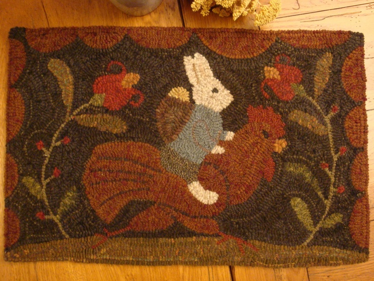203 Best Images About Primitives Hooked Rugs On Pinterest