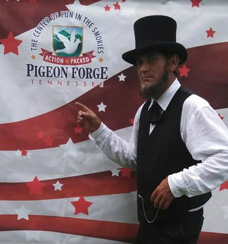 It doesn't get much more patriotic than Abraham Lincoln, who made a guest appearance at Patriot Festival!