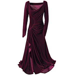 Burgundy Velvet Yule Dress - Gothic Renaissance Medieval Celtic Wiccan Fairy and New Age Womens Clothing Jewelry Gifts & Accessories   Pyramid Collection from pyramidcollection.com