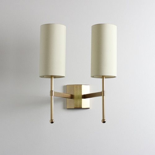 Double Stem Wall Light with Silk by Tigermoth Lighting Ltd
