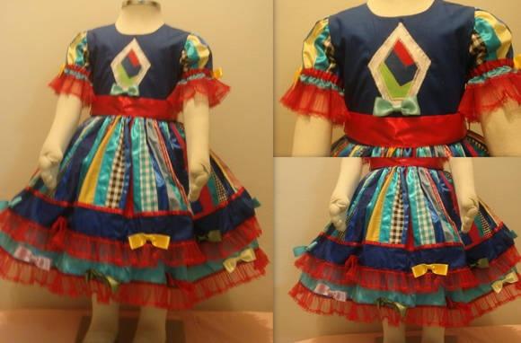 Vestido Junino | Lojinha da MaluAna | 304575 - Elo7