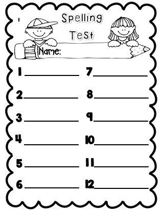 17 best Spelling images on Pinterest Spelling ideas, Spelling - spelling test template