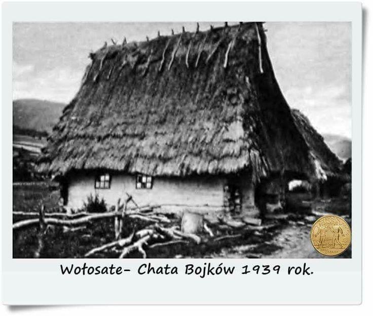 """Wołosate- Chata Bojków 1939 rok. Fot.""""Karpaty i Podkarpacie"""". Fotografia udostępniona dzięki: www.fotopolska.eu"""