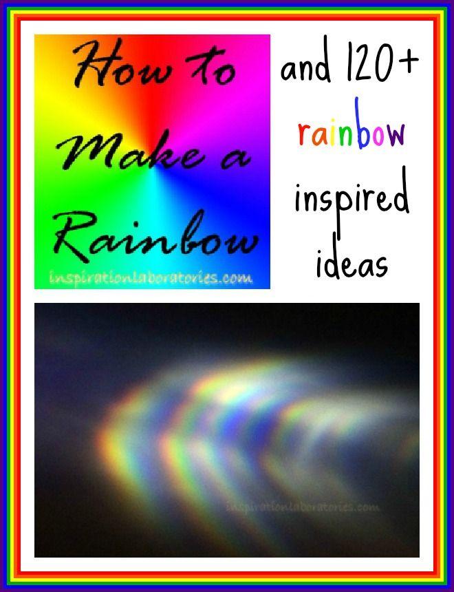 Learn how to make a real rainbow with supplies you have on hand.