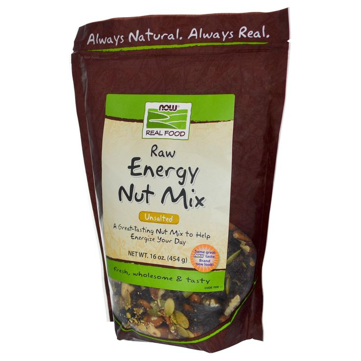 Now Foods, Real Food, Raw Energy Nut Mix, Unsalted, 16 oz (454 g)
