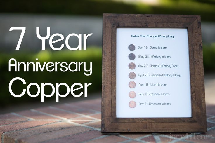 Seventh anniversary gift ideas: wool copper and others
