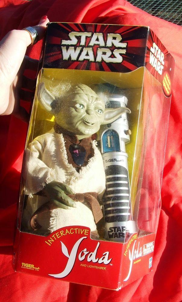 Star Wars Tiger Electronics Interactive 8 Inch Talking Yoda with Box MINT #Hasbro