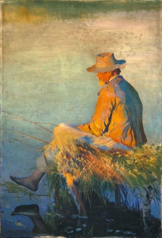 Fisherman - Leon Wyczółkowski (1852-1936)
