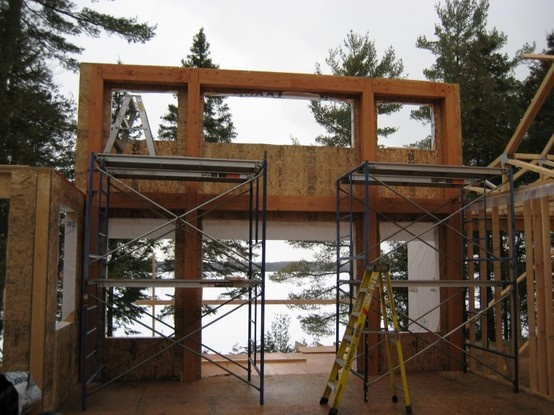 timber frame in a current new build by Integrity