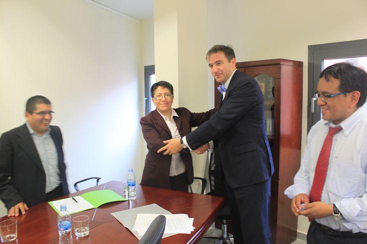 Con Aurelia Ramírez, Gerente de la Cámara de Comercio de Perú