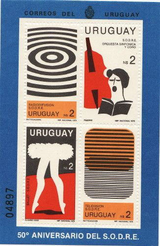 The ballet stamp of Uruguay